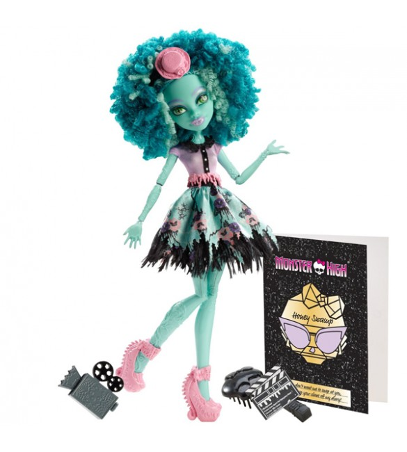 "Хани Свомп ""Монстры! Камера! Мотор!"" Кукла Monster High (Mattel)"