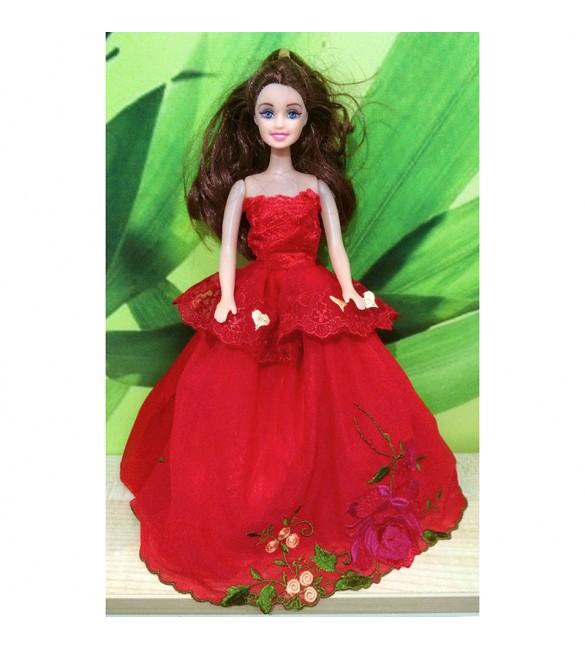 """Платье для куклы Барби """"Красная роза"""""""