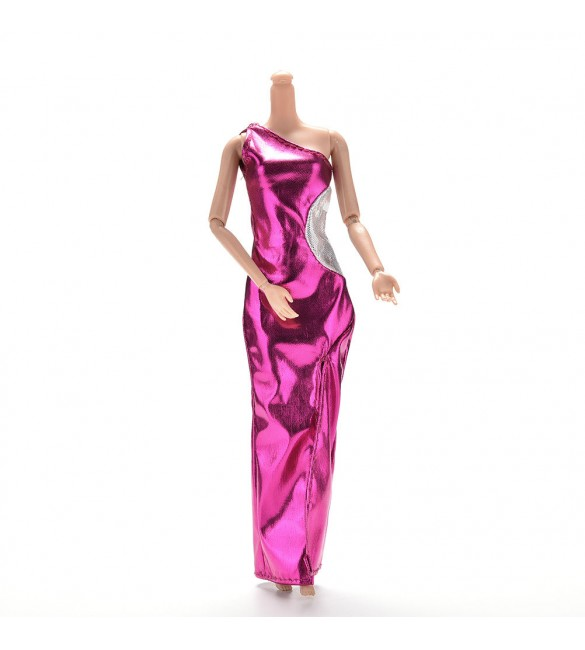 "Платье для куклы Барби ""Розовый атлас"""